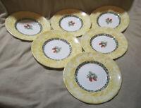 "Johnson Bro's Arcadia 1999 Colette Louise Bishop 6"" Glazed Porcelain Plates"