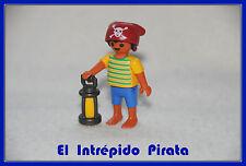 PLAYMOBIL - Grumete Pirata 3940 Custom Goleta 3550 Soldado Barco Galeon