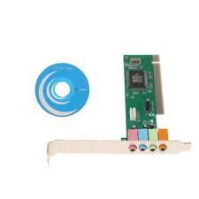 1Pcs Motherboard 5.1Channel PCI Surround Soundkartenadapter für Desktop