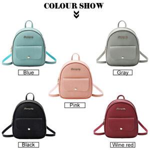 PU Girl/Ladies Mini Backpack School/Travel Shoulder Bag Rucksack