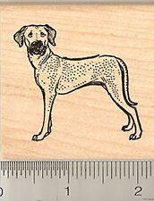 Rhodesian Ridgeback standing Rubber Stamp G7508 Wm dog