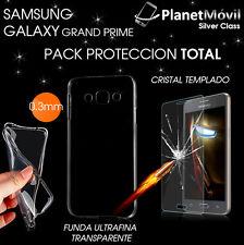 Funda ultrafina transparente protector cristal templado Samsung Galaxy S6 Edge