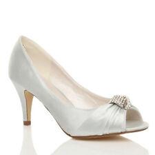 Kitten Bridal or Wedding Peep Toes Unbranded Women's