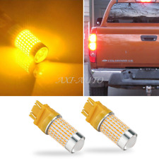 AUXITO 2X 3157 3457 3156 4157 LED Amber Yellow Turn Signal Light 144-SMD Bulbs