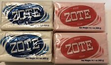 4 Zote White/Pink Bars  14.1oz Hand Wash Soap for Stains 400g Large Zote Soap