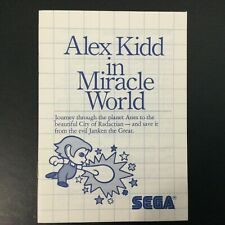 Alex Kidd In Miracle World SEGA Master System Instruction Manual Only - Good