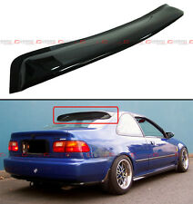 1992-95 HONDA CIVIC 2DR COUPE JDM BLK SMOKE REAR ROOF WINDOW VISOR WING SPOILER
