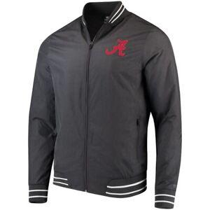Alabama Crimson Tide Blade Full-Zip Jacket Hand Zip Pockets Charcoal Size Medium