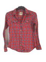 Hollister Womens Plaid Cotton Long Sleeve Shirt Size S (D497)