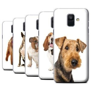 STUFF4 Phone Case/Back Cover for Samsung Galaxy A6 (2018) /Dog Breeds