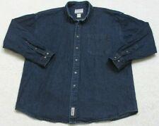 High Sierra Blue Denim Pocket Jeans Dress Shirt Large Long Sleeve Mans Cotton