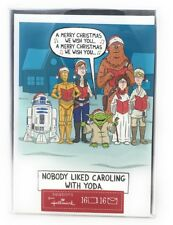 hallmark disney star wars 16 christmas cards boxed yoda r2d2 princess leia 3cpo - Star Wars Christmas Card
