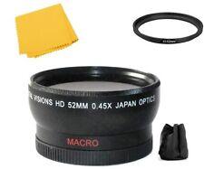 Digital Vision 52mm Wide angle Lens For Panasonic HC-WXF991K HC-WXF991 HC-VX981K