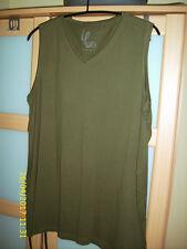 Ulla Popken Top  Gr.50/52, olive, Baumwolle,  wenig getragen, 80 cm lang