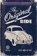 VW Käfer Panneau en tôle 20x30 cm édition wolfsburg 13 The original Ride since