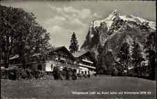Grindelwald Kanton Bern Postkarte 1951 gelaufen Am  Hotel Adler mit Wetterhorn