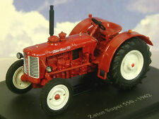 SUPERB U/H HACHETTE DIECAST 1/43 1962 ZETOR SUPER 550 TRACTOR IN DARK RED TR31