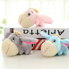 Cute Stuffed Animal Donkey Plush Toy Keychain Keyring Pendant w/ Sucker Gift