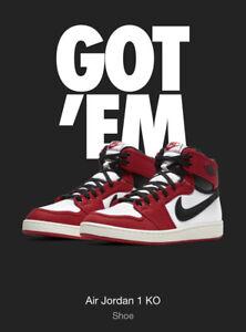Nike Air Jordan 1 KO AJKO High OG Chicago SIZE 10 DA9089-100 Confirmed SNKRS!