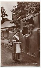 Ffestiniog Railway, The Lady Stationer At Tan-y-Bwlch Railway RP PPC, Unposted