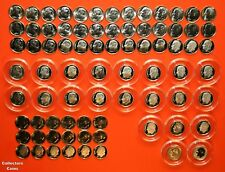 2000 - 2020 PDSS +S Roosevelt Dime 86 Coin BU Set wALL Clad & Silver Proof + Enh