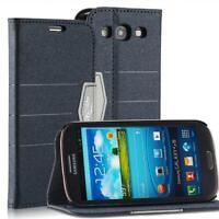 Livre Coque Pour Samsung Galaxy S3 Anthracite Noir Avec Fermeture Magnétique Neu