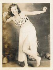 WWII Pretty Hula Girl Hawaii Photo