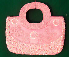 Beaded bags wedding - special occasions - evening - top handle pink