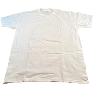 KIRKLAND Mens T Shirt XL White Plain Tee
