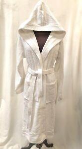 Unisex White Hooded Bath Robe 2XL
