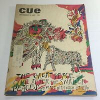 Cue Magazine: December 19 1970 - The Great Peace Full Magazine Theme Cover