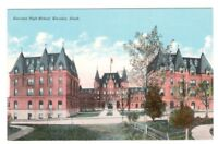 Postcard WA Tacoma High School RPPC Real Photo Hand Colored c1907