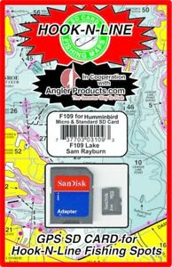 Angler Products Upload-able Fishing Hotspots for Sam Rayburn, TX - HooknLine Map