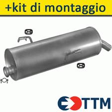 PEUGEOT 206 HATCHBACK 1.1 1.4 1.6 1998-2006 Silenziatore Marmitta Posteriore+