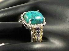 RARE South African Shadowkite Ring 9x12 mm 925 Sterling Silver Size 9 TCW 6.02