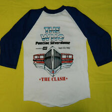 Vintage NOS THE WHO THE CLASH 1982 TOUR JERSEY T-SHIRT 80S DEAD STOCK CONCERT