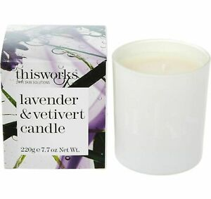 This Works Lavender & Vetivert Scented Candle 220g luxurious high quality wax