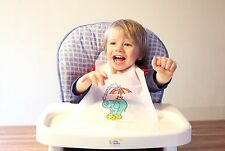 CASE OF 500 DISPOSABLE KID'S KRITTERS BIBS PLASTIC FREE SHIPPING