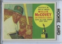1960 Topps Willie McCovey San Francisco Giants #316 Rookie Card RP