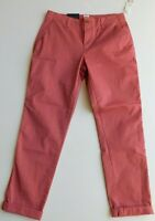 NWT Gap Women's Stretch Girlfriend Chino Pants Pink Size 2 MSRP$50 Free Ship New