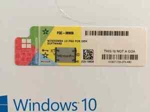 Windows 10 Pro OEM Key Aktivierungsschlüssel zum Freirubbeln Aufkleber per Post