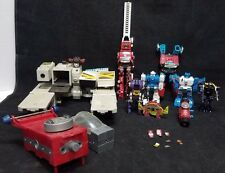 Vintage Hasbro 1980s Transformers G1 Lot  Many Old Figures & Decals TAKARA