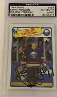 1988 1989 OPC Pierre Turgeon AUTO PSA DNA RC ROOKIE #42 AUTOGRAPH Signed Blue
