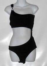 4ee57af01b Bisou Bisou Ladies Asymmetric Cut-Out One (1) Piece Swimsuit Black Large (