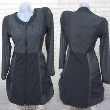 Lagenlook Tunika Kleid Bluse Longshirt Jacke FRANSTYLE Grau Gr. 38 (T474)