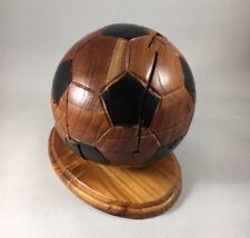 Soccer Ball Wood Puzzle Brain Teaser with instructions Sports Collectible 14""