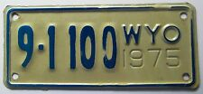 Wyoming 1975 BIG HORN COUNTY MOTORCYCLE License Plate SUPERB QUALITY # 9-1100