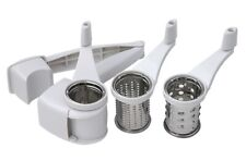 Swift Rotary Grater with 3 Grating Barrels Cheese Nuts Chocolate Fine Coarse