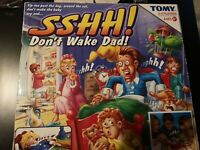 TOMY SSHH DONT WAKE DAD ELECTRONIC BOARD GAME COMPLETE VINTAGE RARE