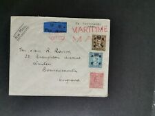 CHINA 1940's MARITIME MAIL COVER TO ENGLAND.